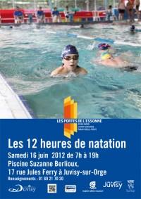 Sport les 12 heures de natation samedi 16 juin 2012 for Piscine suzanne berlioux