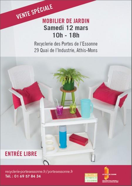 Recyclerie vente sp ciale mobilier de jardin samedi 12 for Vente mobilier jardin