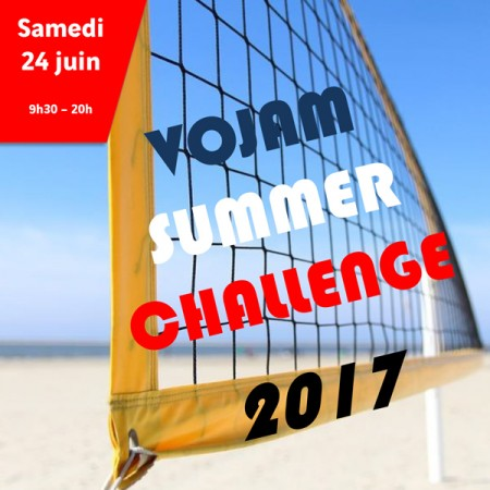 Tournoi estival de volley « VOJAM summer challenge 2017 »