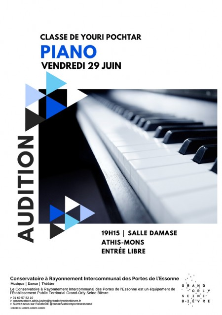 Audition de piano de la classe de Youri Pochtar