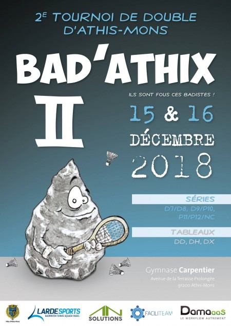 Bad'Athix II - Tournoi de double d'Athis-Mons