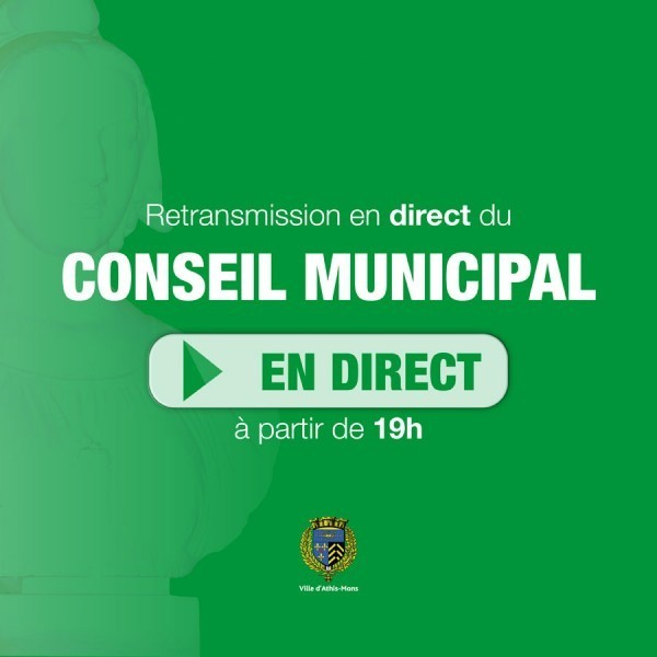 Réunion du Conseil municipal (retransmission en direct)